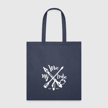 American Indian native american - love my tribe - vintage - Tote Bag
