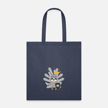 Templar Knights Medieval Sloth King with swords gift - Tote Bag