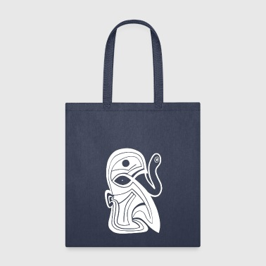 ink drawing tattoo style mask third snake eye - Tote Bag
