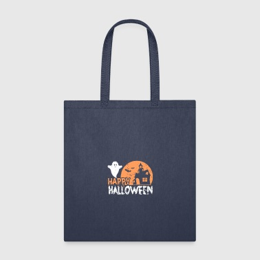 Happy Halloween skull funny gift scary - Tote Bag