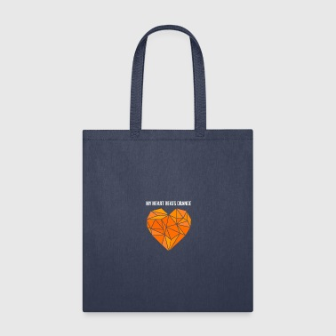 orange heart - Tote Bag