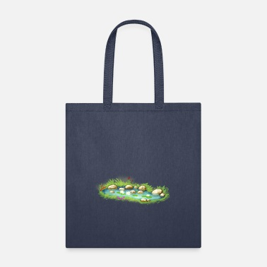 Garden Pond garden pond pool plants - Tote Bag