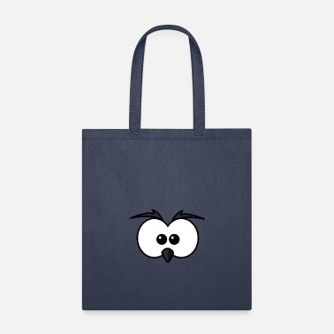 Beak Eyes with beak and eyebrows black - Tote Bag