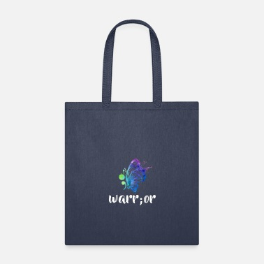 Semicolon Butterfly Suicide Preventio - Tote Bag