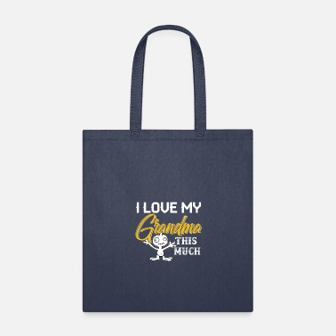 Grandma I Love My Grandma This Much - Tote Bag