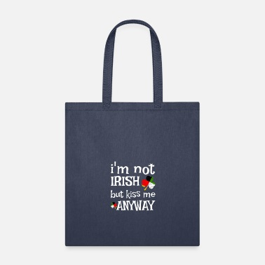 Note Clue I m not Irish But Kiss Me Anyway T Shirt 7 - Tote Bag
