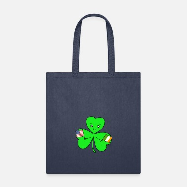 IRISH AMERICAN Flag Shamrock St. Patrick's Day - Tote Bag