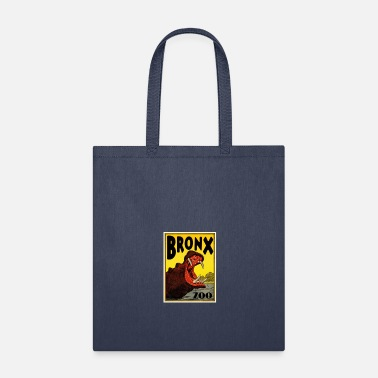 Zoo Vintage Hippo Visit The Zoo Bronx - Tote Bag