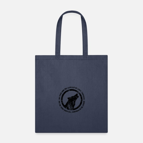Wolf Bags & Backpacks - Wolf Does Not Perform In The Circus - Tote Bag navy