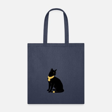 Jewelry BLACK CAT WITH GOLD JEWELRY - Tote Bag