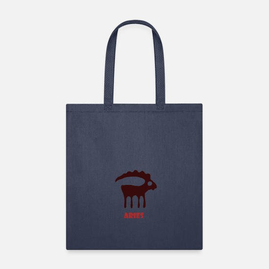 Sign Of Zodiac Bags & Backpacks - ARIES - Tote Bag navy