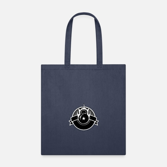 Badge Bags & Backpacks - Retro crossfit badge - Tote Bag navy