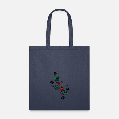 Ladybird Tendril with shamrocks and ladybirds. - Tote Bag