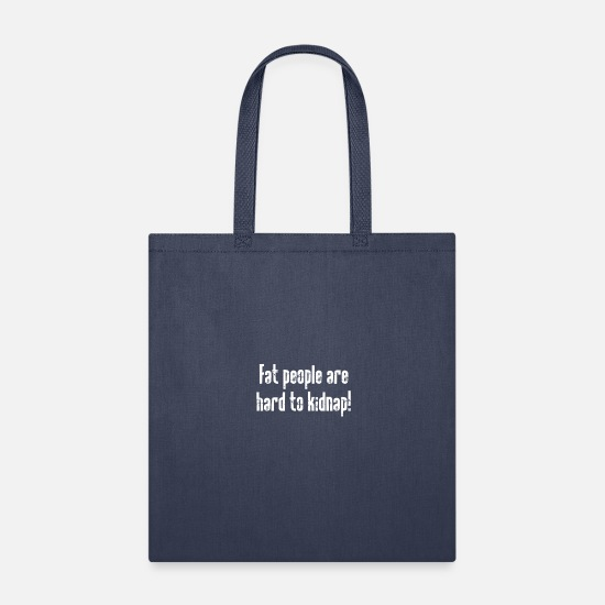 Art Bags & Backpacks - Fat Hard - Tote Bag navy