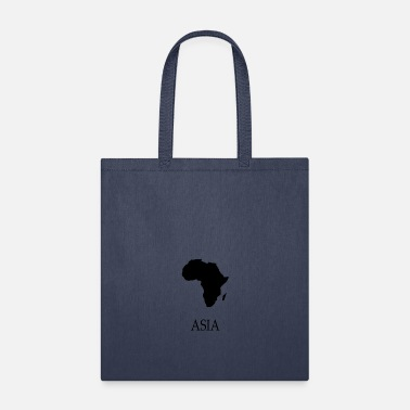 Korea Funny Africa Shirt with Asia black - Tote Bag