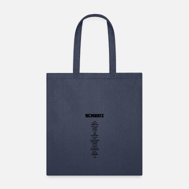 Canton Swiss cantons black - Tote Bag