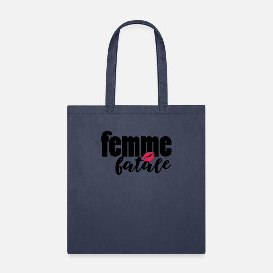 Attractive Bags & Backpacks - femme fatale - Tote Bag navy