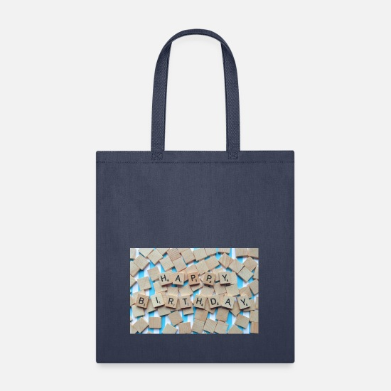 Birthday Bags & Backpacks - birthday - Tote Bag navy