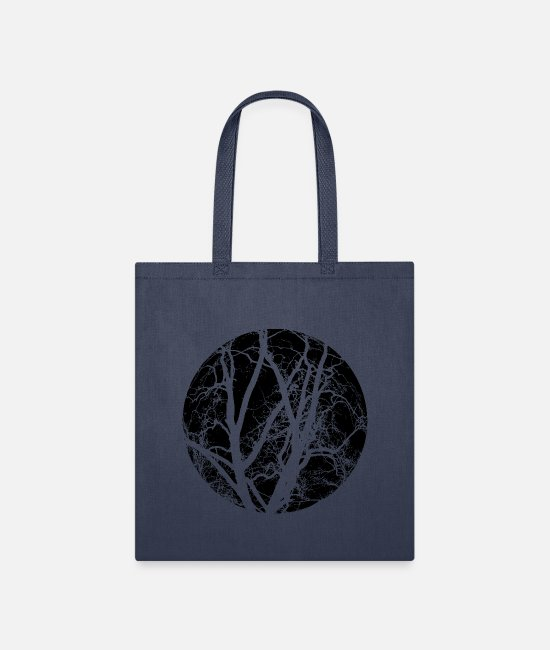 AST Bags & Backpacks - Trees branches - Tote Bag navy