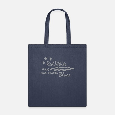 RED WHITE AND NO MORE BLUES - Tote Bag