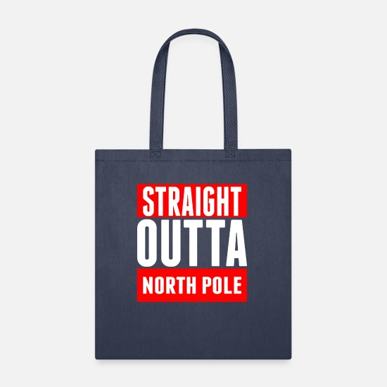 North Pole Bags & Backpacks - Straight Outta North Pole - Tote Bag navy
