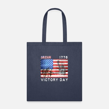 Victory Betsy Ross 1776 Distressed Flag T-Shirt - Tote Bag