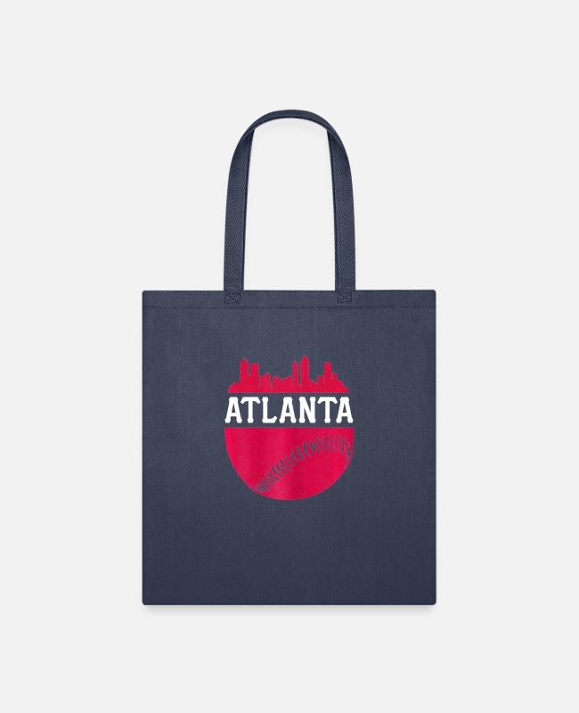 Skyline Bags & Backpacks - ATLANTA BASEBALL | ATL VINTAGE SKYLINE - Tote Bag navy