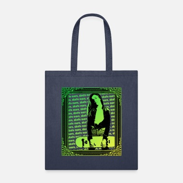 Beach Skater Girl skate more - Tote Bag