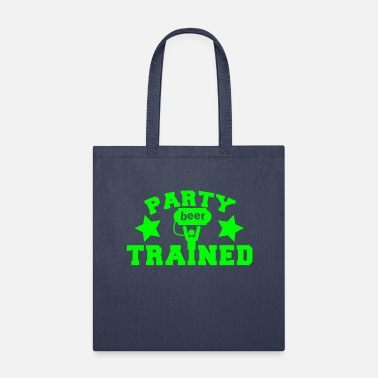 Beer Keg PARTY TRAINED with man and a beer keg - Tote Bag