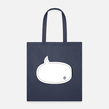 Satire speech balloon patch - Tote Bag