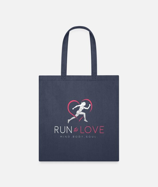 Runner Bags & Backpacks - Run to Love - Tote Bag navy