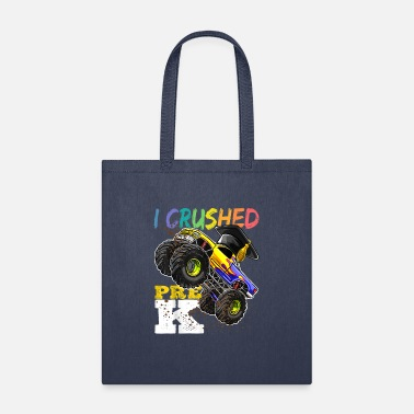 I Crushed Pre K Monster Truck Graduation Cap Shirt - Tote Bag