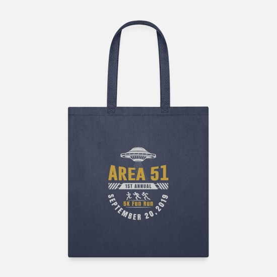 Fun Bags & Backpacks - AREA 51 1ST ANNUAL 5K FUN RUN T SHIRT - Tote Bag navy