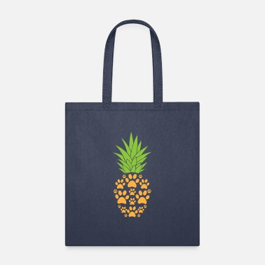 Paw Dog Paw Pineapple Funny Tropical Fruit Animal - Tote Bag