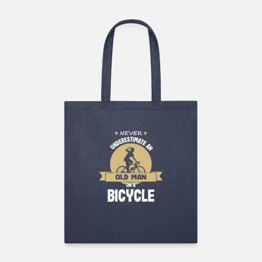 Bicycling Cycling Old Guy Biking Bicycle Bike - Tote Bag