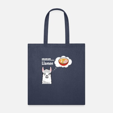 FUNNY LLAMA HAVING A BOWL OF JAPANESE RAMEN NOODLE - Tote Bag