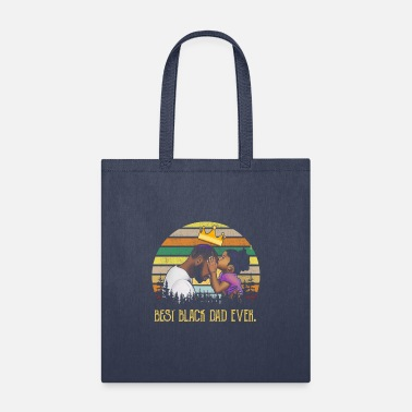 Best Black Dad Ever Fathers Day 2020 Vintage - Tote Bag