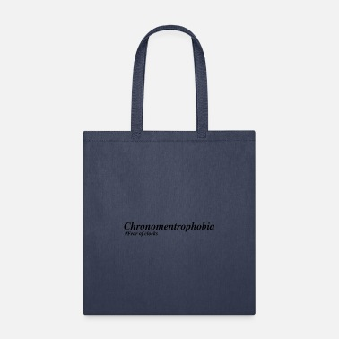 Orange Chronomentrophobia Fear of clocks - Tote Bag