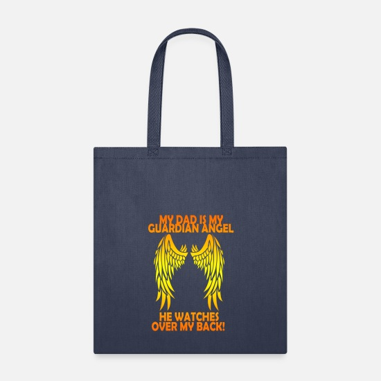 Memory Bags & Backpacks - My Dad is my Guardian Angel, He Watches over my Ba - Tote Bag navy