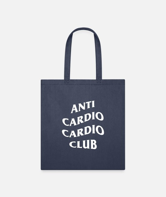 Fitness Bags & Backpacks - ANTI CARDIO CARDIO CLUB - Tote Bag navy