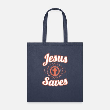 Clothing Jesus Saves T-Shirt and Christian Clothing - Tote Bag