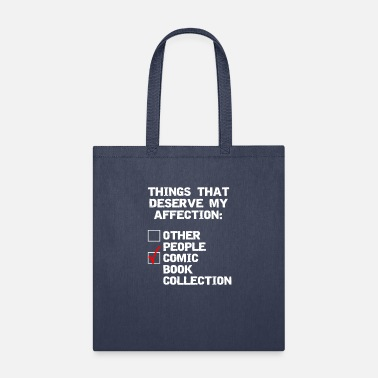 Collector Comic book collector funny affection - Tote Bag