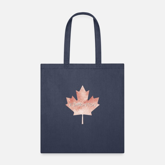 Lettering Bags & Backpacks - Maple Leaf Edmonton - Tote Bag navy