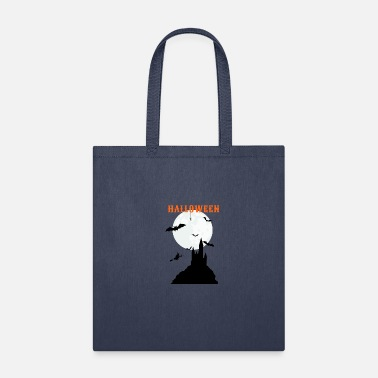 Graveyard Halloween - Witcher, Bat, Castle and Spider - Tote Bag