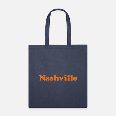 Nashville simple text t-shirt orange design - Tote Bag