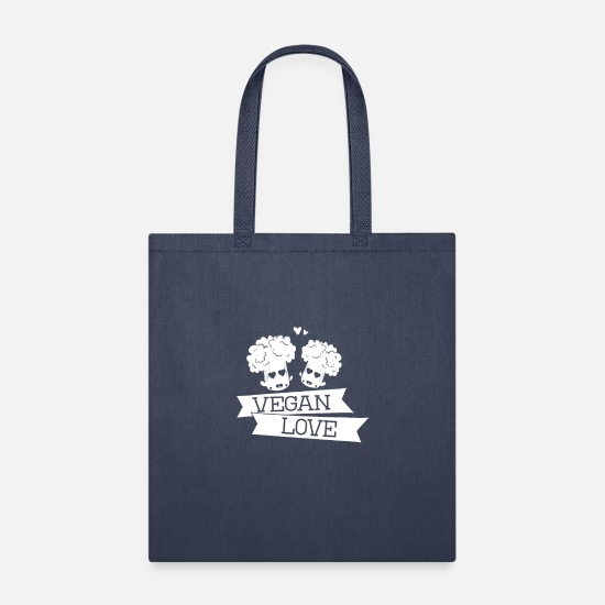 Gift Idea Bags & Backpacks - Vegan Vegan Vegan - Tote Bag navy