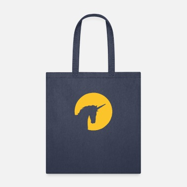 Unicorn In Moonlight Funny Tshirt - Tote Bag