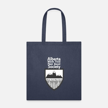 Alberta WFPB Society Logo with White Text - Tote Bag