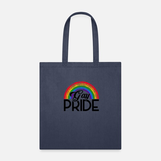 Love Bags & Backpacks - LGBT Pride CSD Gay Queer Rainbow - Tote Bag navy