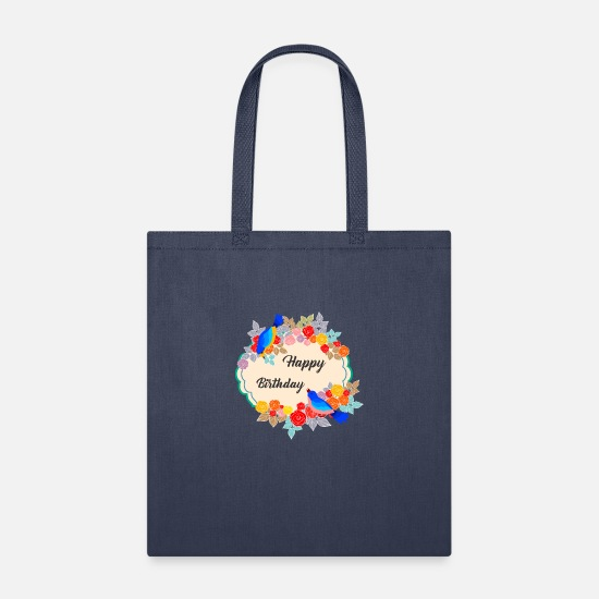Happy Holidays Bags & Backpacks - Happy Birthday to you - Tote Bag navy